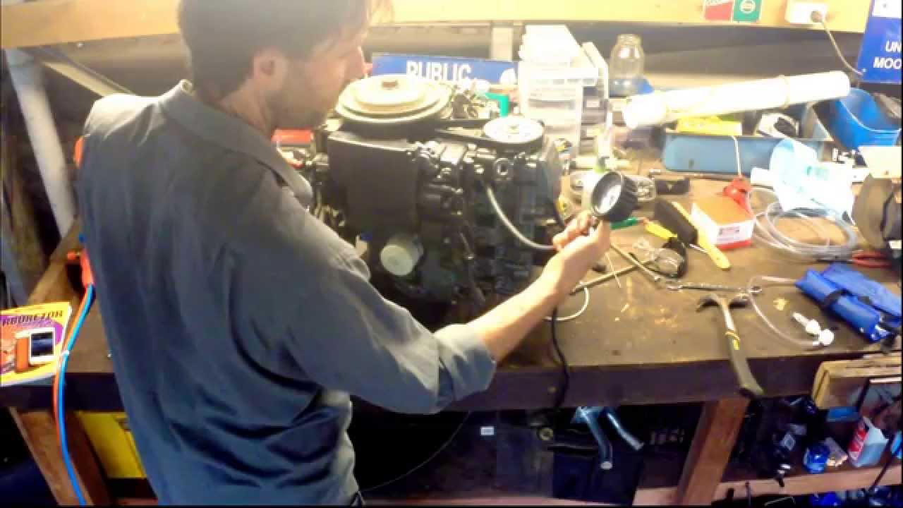 Performing a compression test on the Yamaha 50HP outboard motor