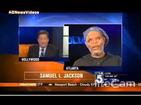 SAMUEL L JACKSON MISTAKEN BY A NEWS REPORTER FOR LAURENCE FISH BURNE