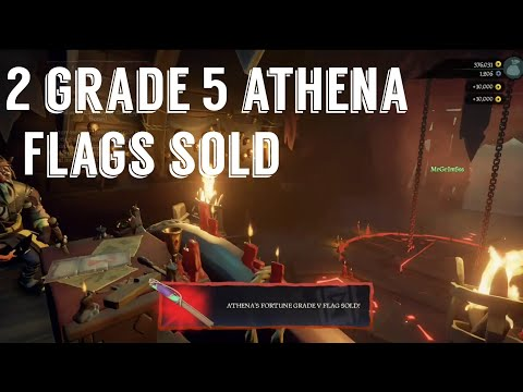 2 Grade 5 Athena Flags Sold! Sea of Thieves