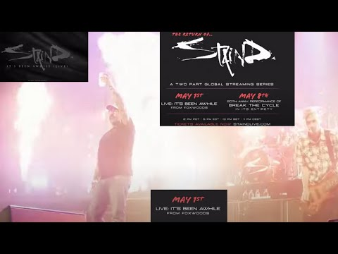 Staind announced new live album and 2 streaming events, Live: It's Been Awhile/Breaking The Cycle