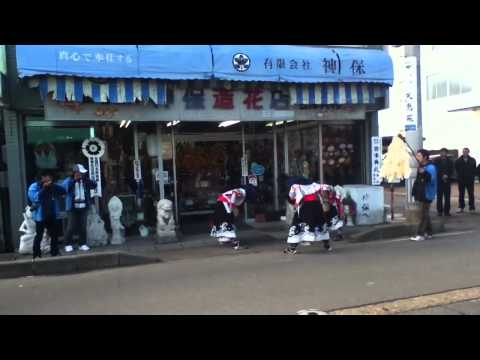 Traditional Lion Dance Brings Spring to Aizu,Fukushima prefecture
