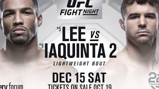 UFC ON FOX 31 LIVE! LEE VS IAQUINTA LIVESTREAM - UFC FIGHT COMPANION!