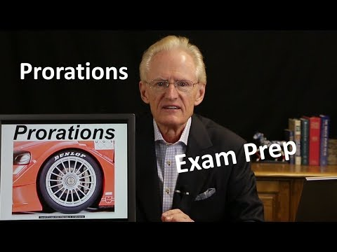 41 Prorations: Arizona Real Estate License Exam Prep
