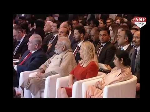 Narendra Modi and Benjamin Netanyahu attends Raisina Dialogue 2018