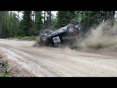 Lieksa Ralli 2019   1 Crash, Close Calls & Action  