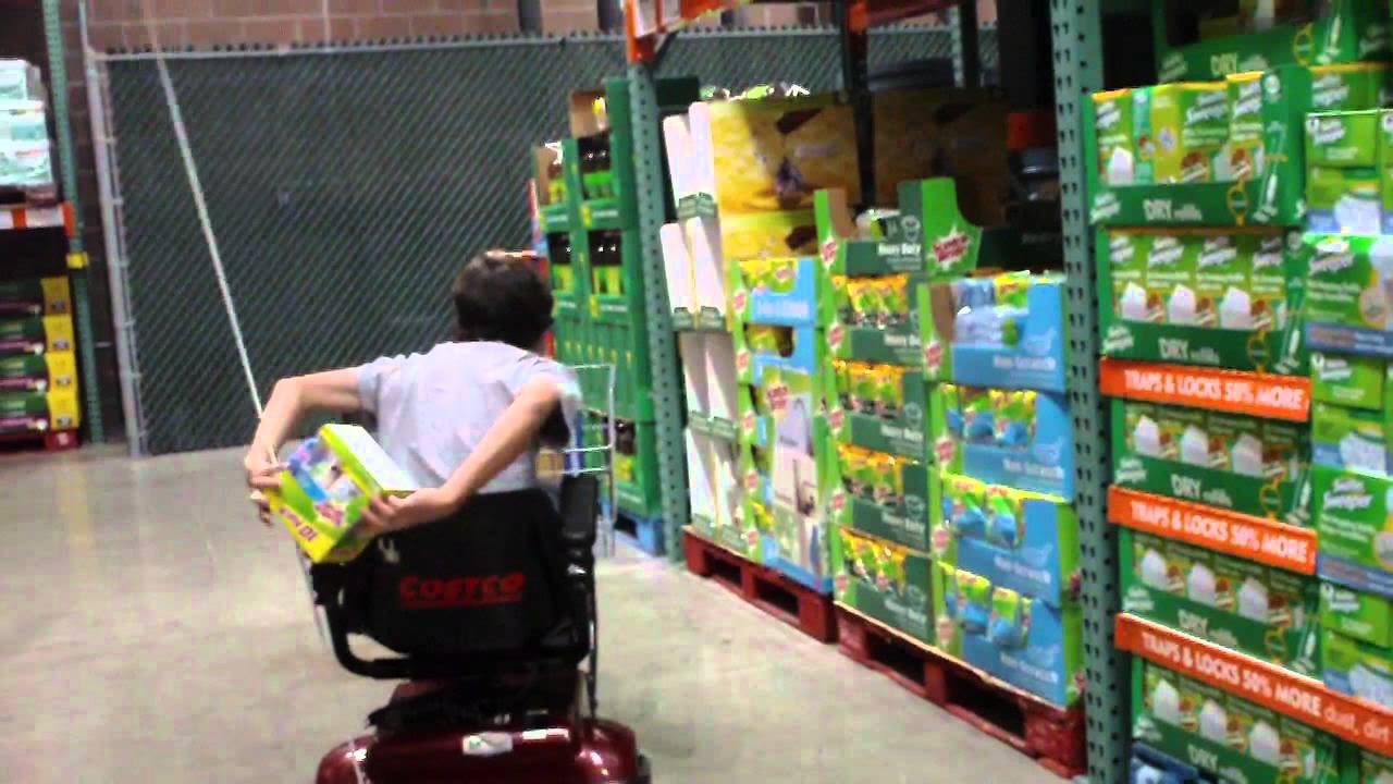 Driving Electric Cart in Costco - YouTube