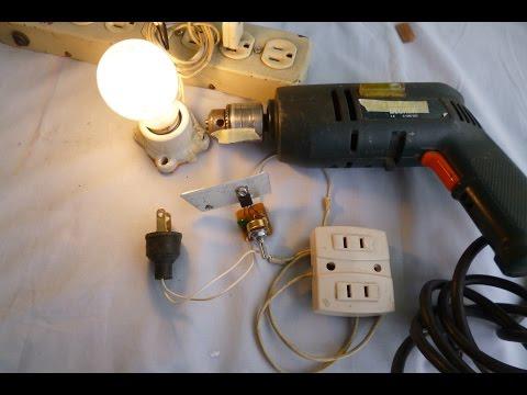 Control de Velocidad para Taladro y control de luz