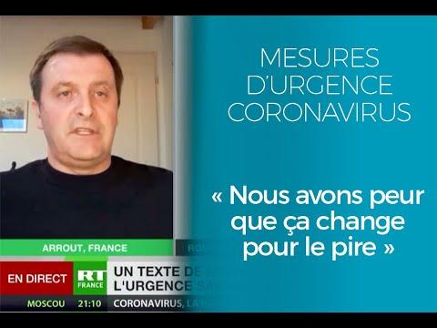 Mesures d'urgence Coronavirus : nous avons peur que ça change pour le pire.