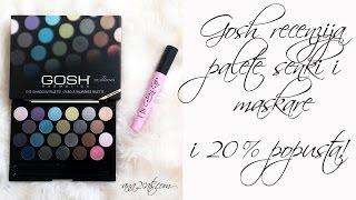 Gosh - recenzija palete senki (22 kom) i Catchy eyes maskare + 20% popusta!