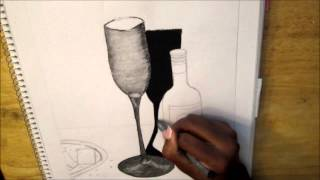 Still Life Speed Drawing: Wine Glass by Lauren Baker