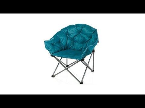 folding yard chair bar steel reinforcement hgtv home padded outdoor club youtube