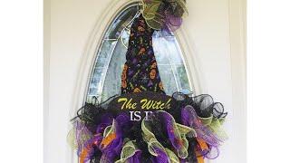 DIY Dollar Tree Witch Hat Wreath | Halloween Crafts