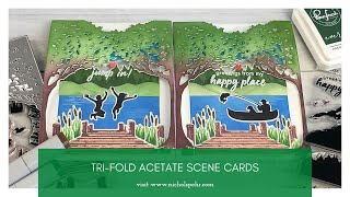 Tri-Fold Acetate Scene Cards (Hero Arts)