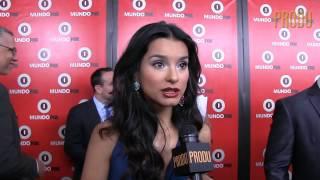 Actriz Paola Rey habla desde la alfombra roja de MundoFox en Los Ángeles