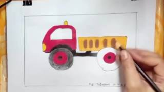 How To Draw Dump Truck Video For Kids