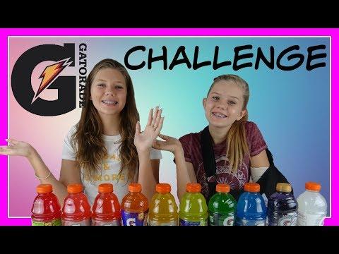GATORADE TASTE TEST CHALLENGE || Taylor and Vanessa