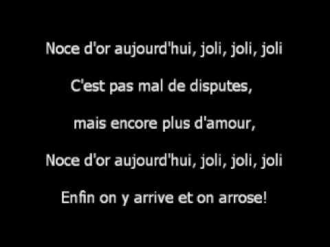 chanson pour les noces dor riquet et nene - Texte 50 Ans De Mariage Noces D Or