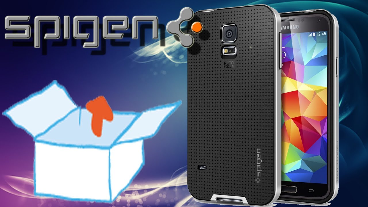 unboxing spigen case f r samsung galaxy s5 h lle neo. Black Bedroom Furniture Sets. Home Design Ideas
