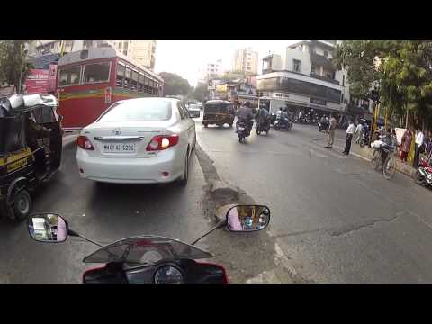 Horrible lady rider in Mumbai India