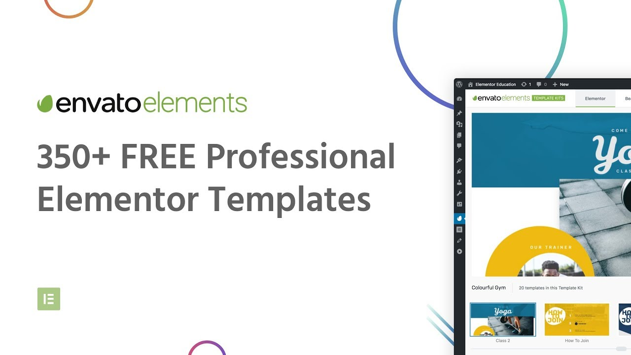 Envato Elements - Free Templates for Elementor