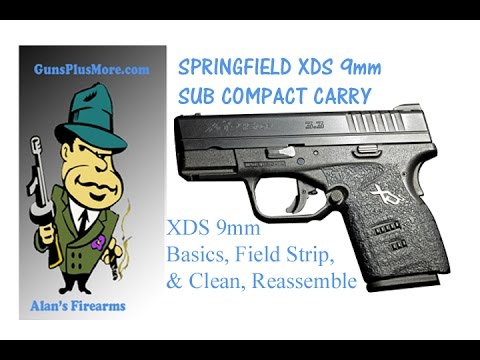 Springfield XD-S 3.3″ Single Stack 9mm, Field Strip, Clean, Lube, & Reassemble