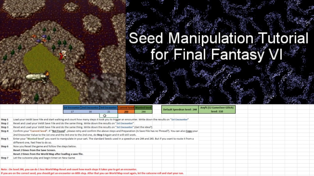 Ff6 Seed Manipulation Tutorial Youtube