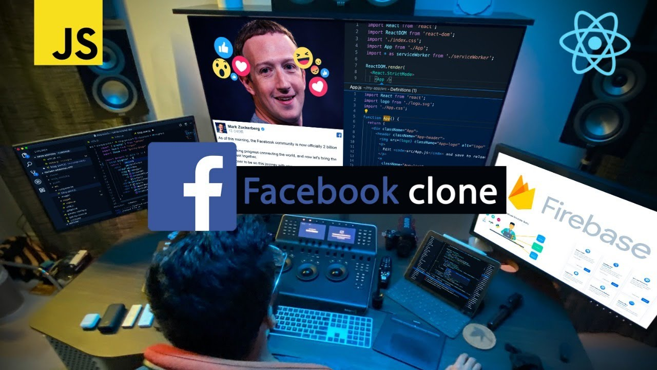 Build a Facebook Clone with REACT JS for Beginners!
