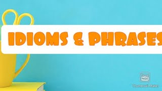 Idioms and phrases in tamil