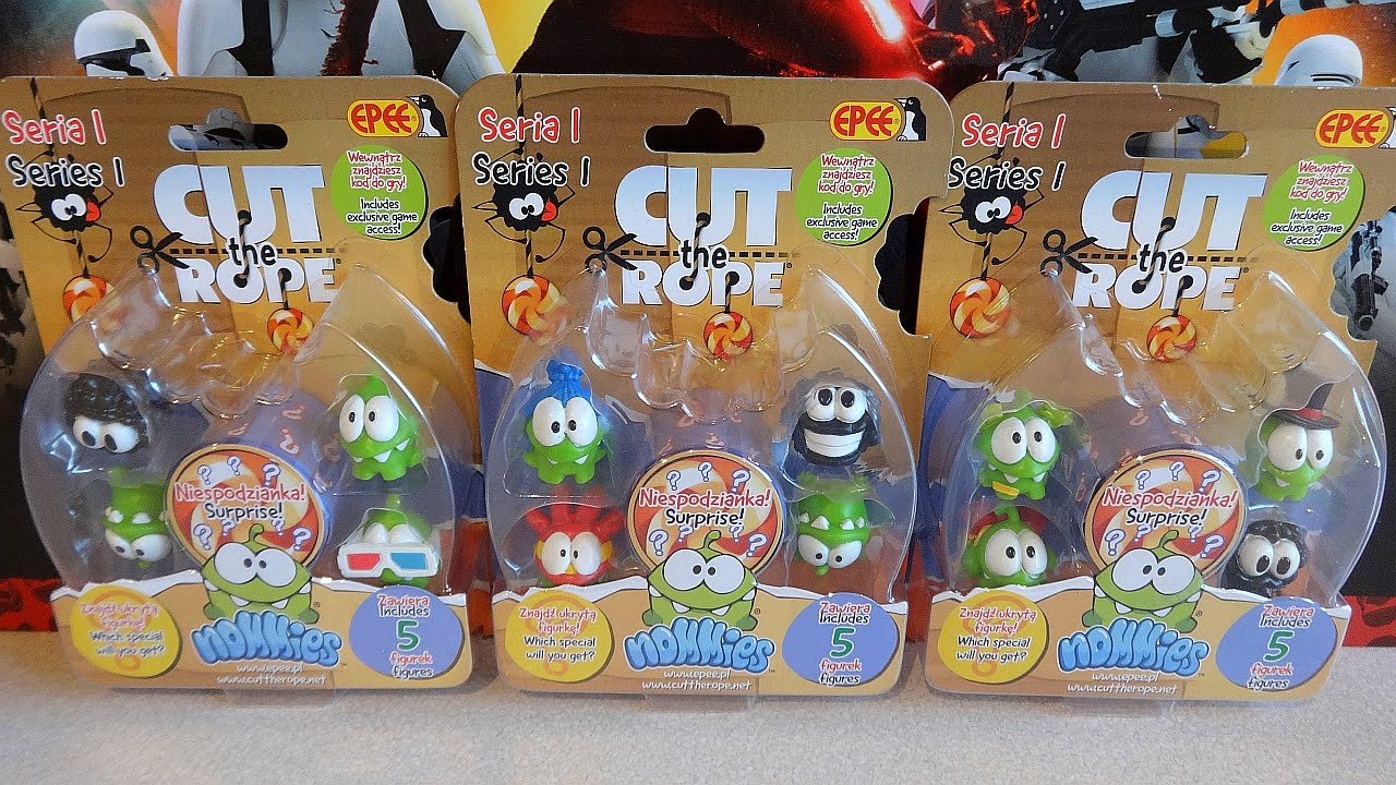Cut the Rope Nommies Rare Collectibles Figures with Gold