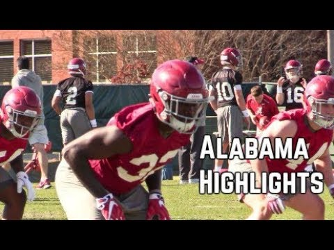 Alabama football highlights from practice No. 2