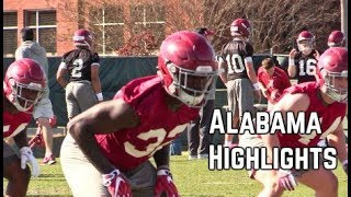 Alabama football highlights from practi...