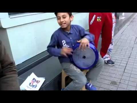 Boy Play the Doumbek Solo Awsome
