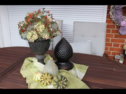 "Herbstdeko Garten/Terrasse "" Natur Pur "" - Bärbel´s Wohn & Deko Ideen"