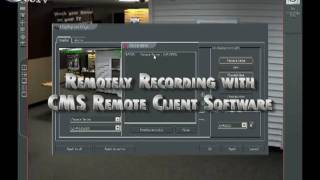 Record Cameras from your Alnet PC-Based DVR or NVR onto a Remote PC with CMS