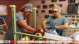 La clinique du Grand Avignon rassure les enfants avec un doudou