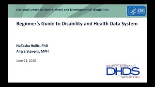 Beginner's Guide to Disability and Health Data System