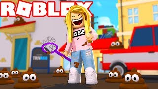I CLEAN UP POOP - WORST JOB IN ROBLOX!