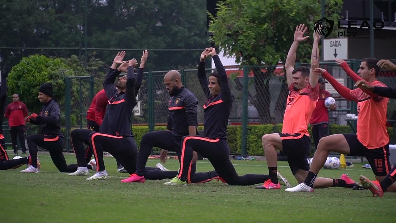 Primeiro treino do Leão em São Paulo visando o Corinthians