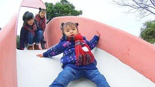 巨大トランポリンと沢山の滑り台で遊びました(^^) thumbnail