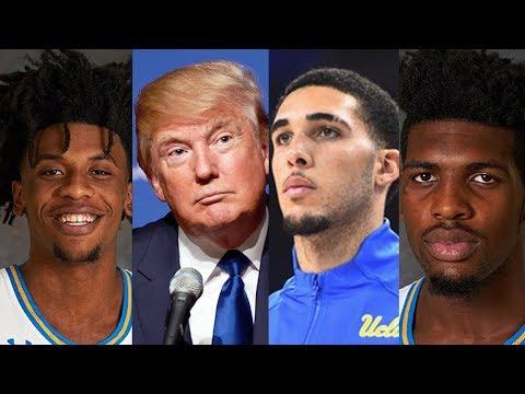 Trump Released LiAngelo Ball & Other UCLA Basketball Players Cody Riley and Jalen Hall Return Home