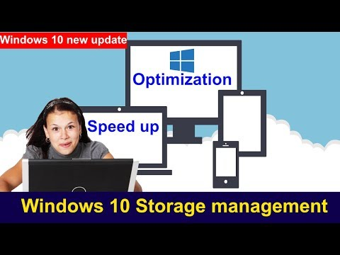 How to use optimization and auto clean in windows 10new update