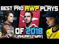 THE BEST PRO AWP PLAYS OF 2018! (CRAZY PLAYS, ACES, CLUTCHES!) - CS:GO
