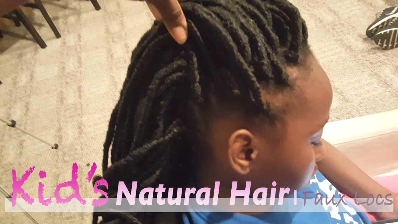 Crochet Faux Locs On Kid S Natural Hair Sensationnel