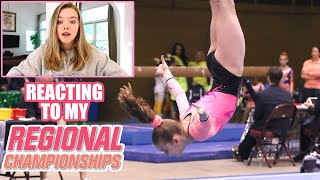 Reacting to My Level 8 Regional Championship Gymnastics Meet Video