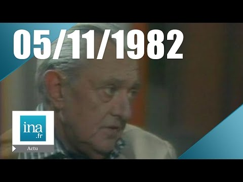20h Antenne 2 du 05 novembre 1982 - Jacques Tati est mort | Archive INA