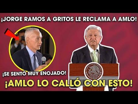AMLO Le Cerró La Boca a Jorge Ramos al Reclamarle por la Inseguridąd ¡Le quitó lo valiente!