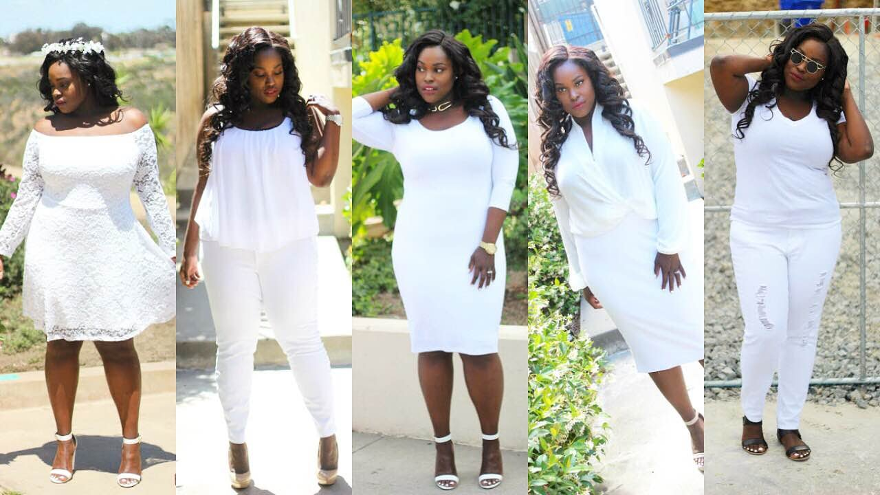plus size all white loobook featuring fashion to figure - youtube