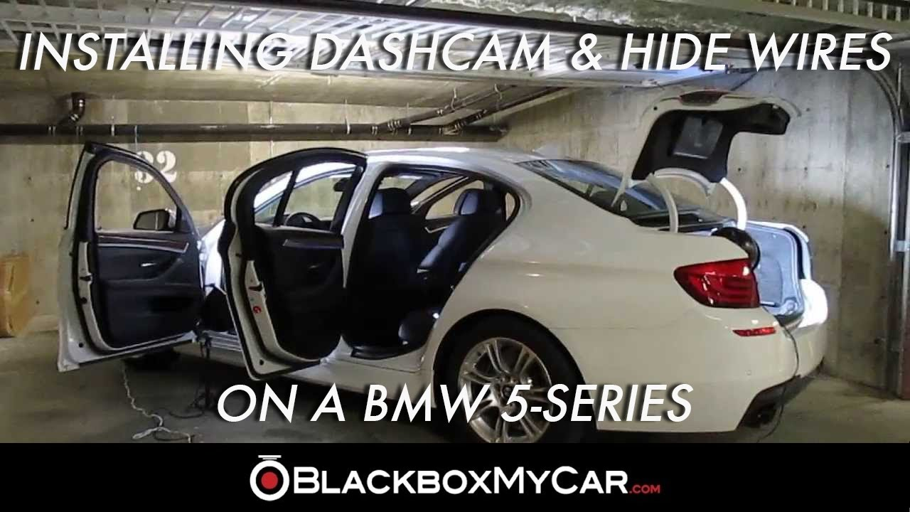 how to install a dashcam hide wires on a bmw 5 series blackboxmycar com [ 1280 x 720 Pixel ]
