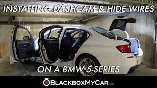 How to Install a Dashcam & Hide Wires on a BMW 5-Series - Blackboxmycar.com