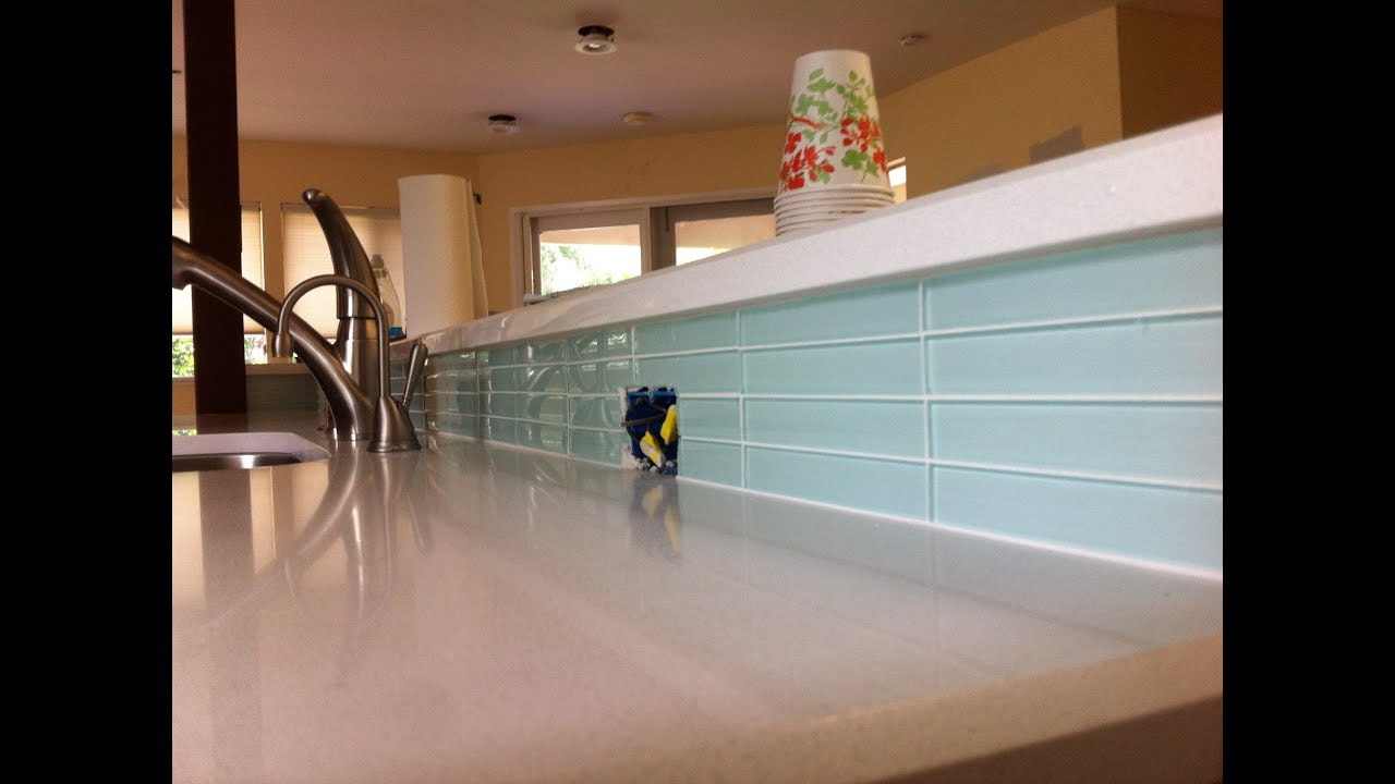 How to Tile A Kitchen Backsplash Then Seal It For Grouting